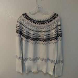 Faire isle pattern sweater